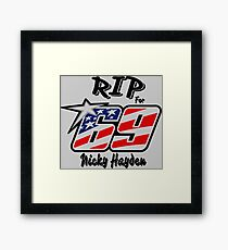 RIP, For Nicky Hayden Framed Print
