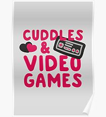 Cuddles and videogames Poster