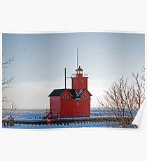 Michigan Lighthouse Poster