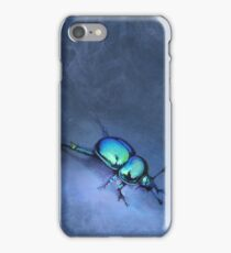 Metallic Earth-Boring Dung Beetle iPhone Case/Skin