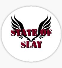 State Of Slay Circle Logo Sticker