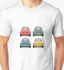 Volkswagen Type 1 - Variety of Volkswagen Beetle on Vintage Background  T-Shirt