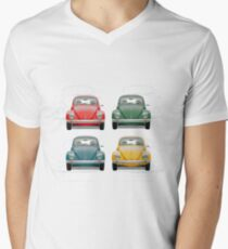 Volkswagen Type 1 - Variety of Volkswagen Beetle on Vintage Background  T-Shirt