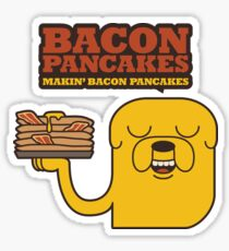 Jake The Dog - Adventure Time - Making Bacon Pancakes Sticker