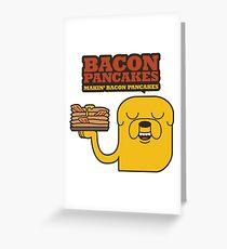 Jake The Dog - Adventure Time - Making Bacon Pancakes Greeting Card