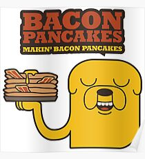 Jake The Dog - Adventure Time - Making Bacon Pancakes Poster