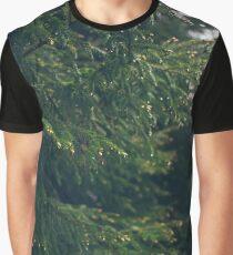Raindrops on green fir-tree branch Graphic T-Shirt