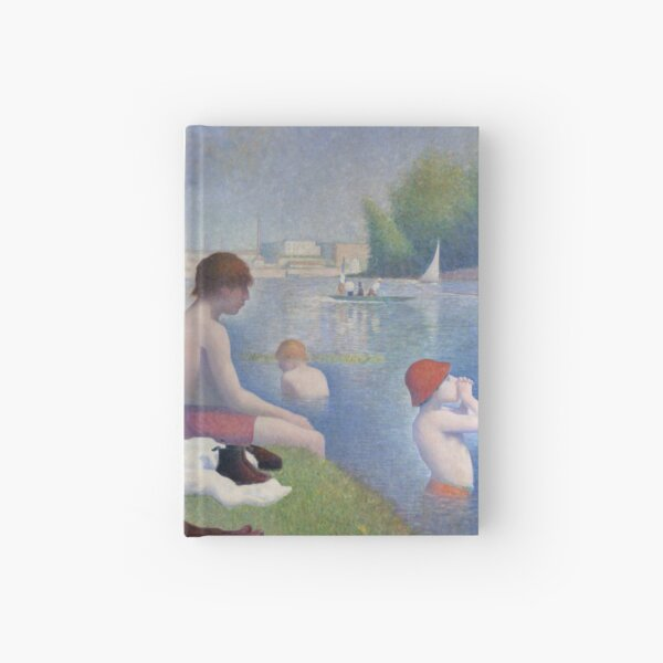 Bathers at Asnieres by Georges Seurat Hardcover Journal
