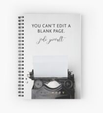 You Can't Edit A Blank Page Spiral Notebook