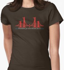 Wishing for San Francisco (light on dark) Womens Fitted T-Shirt