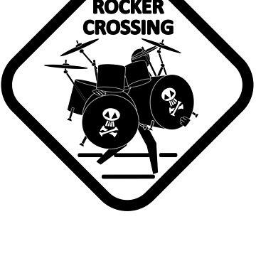 Pedestrian Crossing Road Sign - Drummer by JettKredo