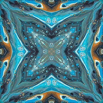 "Fluid painting ""dolphin's wave"" kaleidoscope by nobelbunt"