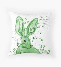 Watercolour rabbit cushion Throw Pillow