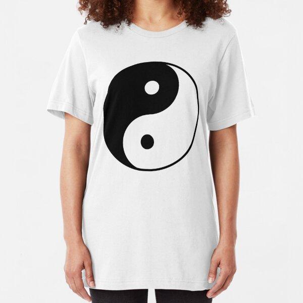 Yin Yang Symbol Slim Fit T-Shirt