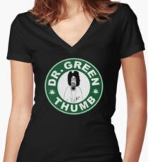 Dr. Green THumb Women's Fitted V-Neck T-Shirt