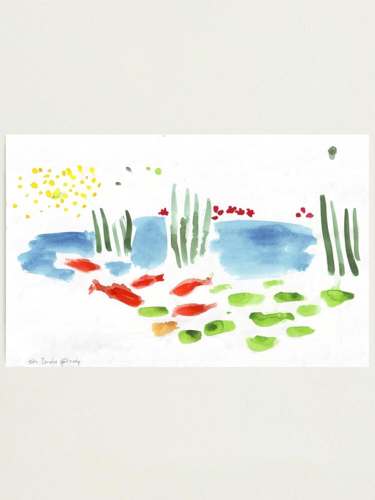 Alternate view of Koi Pond Photographic Print