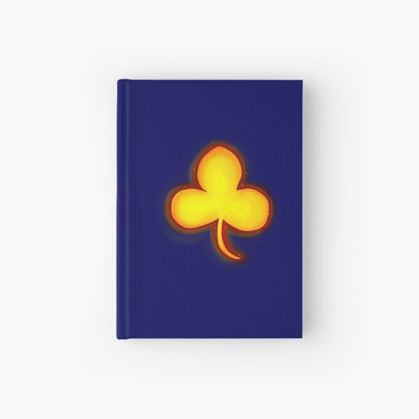 Glowing Clover Hardcover Journal