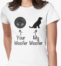 Woofer Dog Humor Women's Fitted T-Shirt