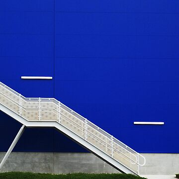 Blue Wall with Stairs by LucidPieces