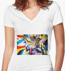 La Rue Women's Fitted V-Neck T-Shirt