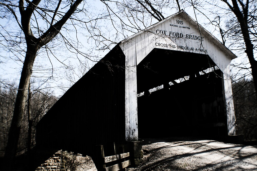 Cox Ford Covered Bridge by Brad Staggs