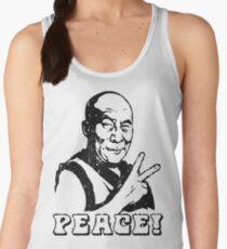 Dalai Lama Peace Sign T-Shirt Women's Tank Top
