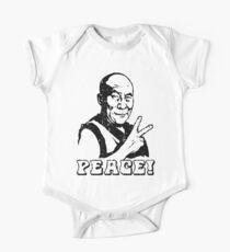 Dalai Lama Peace Sign T-Shirt One Piece - Short Sleeve