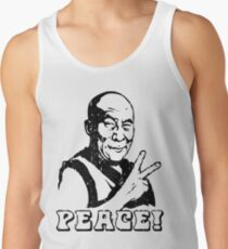 Dalai Lama Peace Sign T-Shirt Tank Top