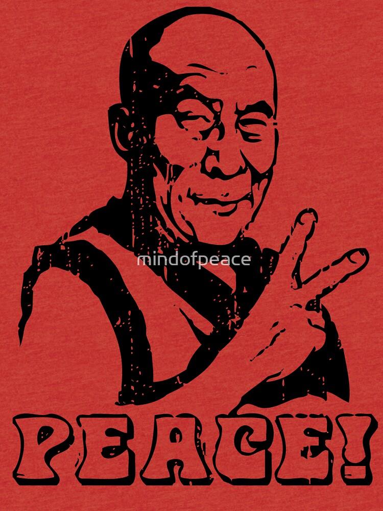 Dalai Lama Friedenszeichen T-Shirt von mindofpeace
