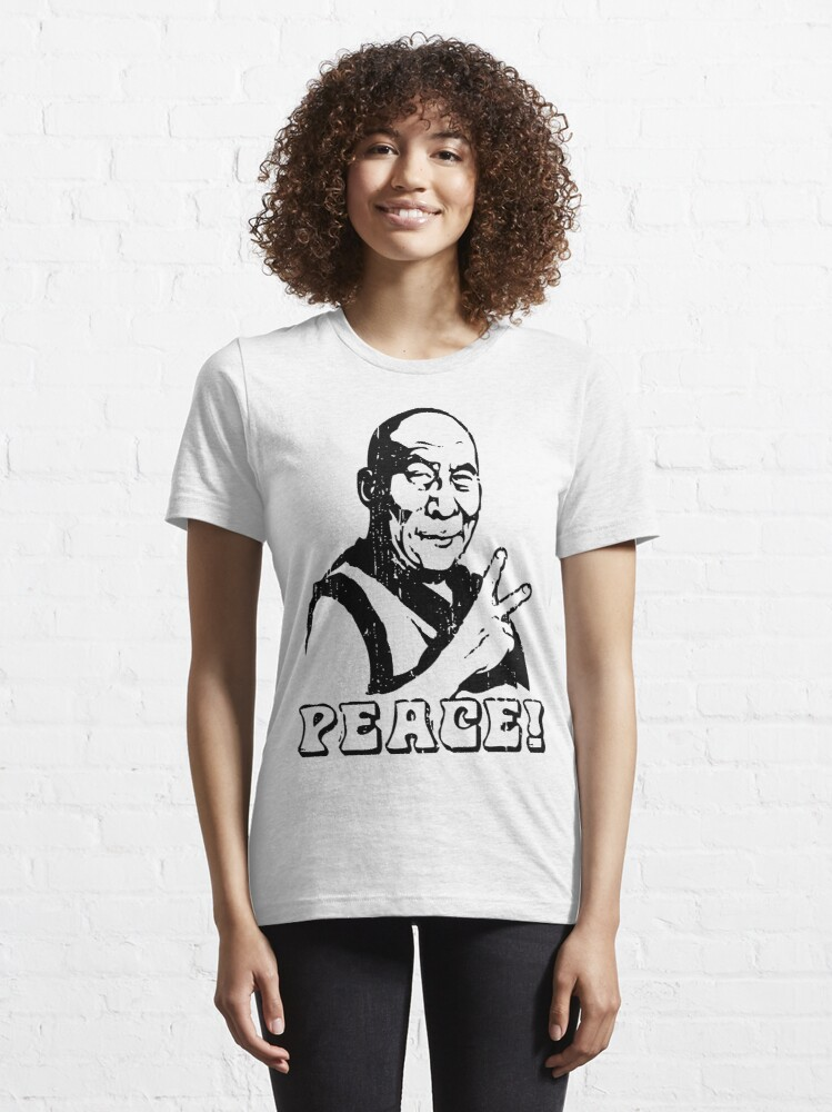 Alternate view of Dalai Lama Peace Sign T-Shirt Essential T-Shirt