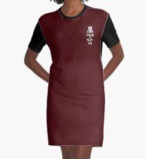 Keep Calm And Slay On Burgundy  Graphic T-Shirt Dress