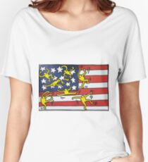 Pop America Women's Relaxed Fit T-Shirt