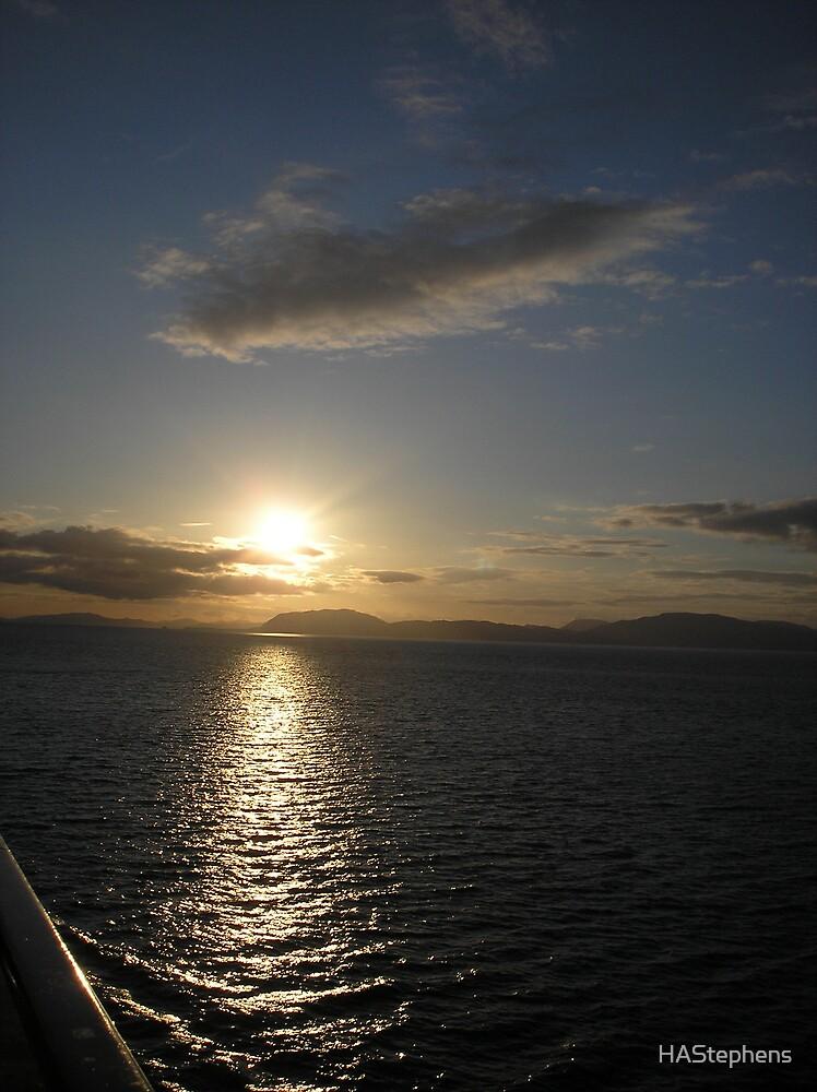 Sunset in Alaska by HAStephens