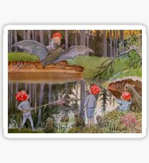 An Illustration from Children of the Forest by Elsa Beskow Sticker