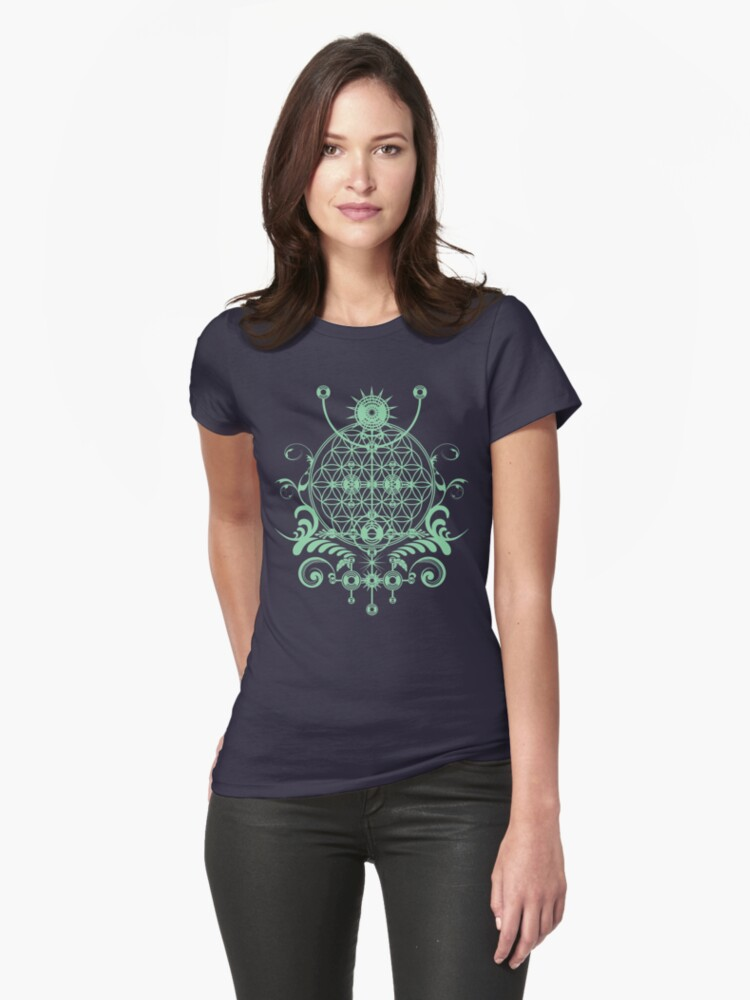 Channeling the Sacred  - Sacred Geometry Flower of Life Symbol by Leah McNeir