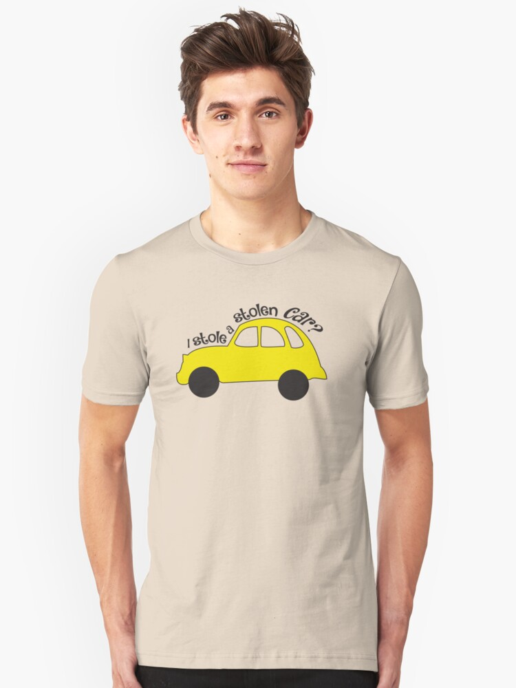 Neal & Emma (Swanfire) - I stole a stolen car? (Once Upon A time) Unisex T-Shirt Front