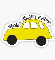 Neal & Emma (Swanfire) - I stole a stolen car? (Once Upon A time) Sticker