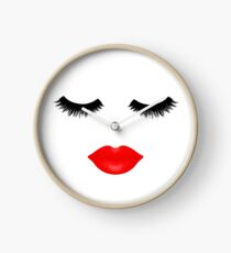 Lips and Lashes Clock