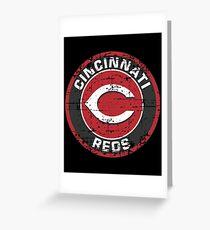 Cincinnati Reds Baseball Club-Distressed Greeting Card