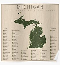 Michigan Parks Poster