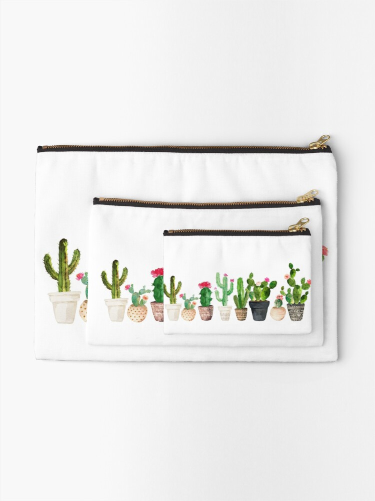 Alternate view of Cactus Zipper Pouch