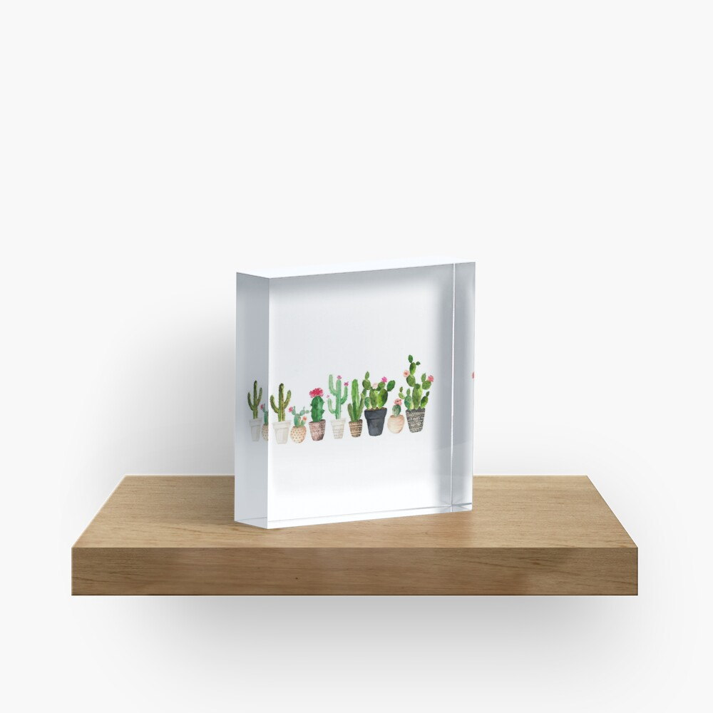 Cactus Acrylic Block
