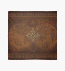 Steampunk Compass Rose & Antique Map Scarf