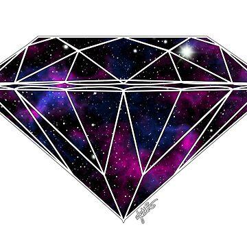 Galaxy Diamond by julieerindesign