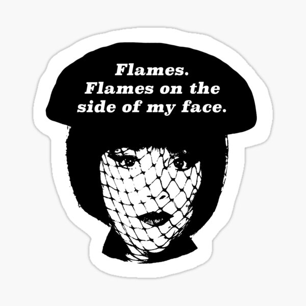Flames on the Side of My Face Sticker