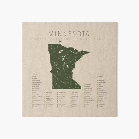 Minnesota Parks Art Board Print
