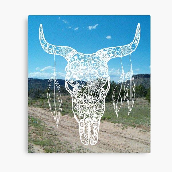 Southwestern Bull Skull Canvas Print
