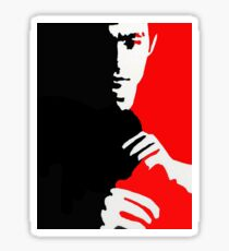 Bruce Lee ready for a fight Sticker