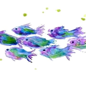 School's in Session - Whimsical School of Fish by StudioN