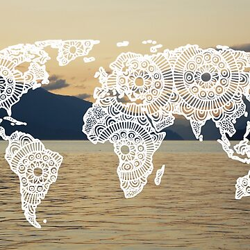 Lake View World Map by julieerindesign